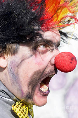 Fury Photograph - Madness The Clown by Jorgo Photography - Wall Art Gallery