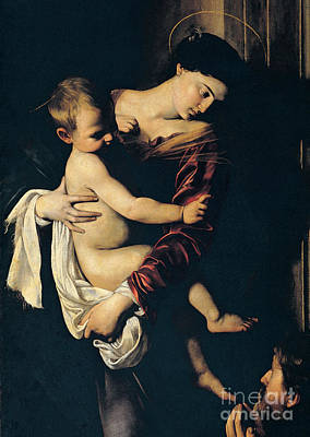 Mary And Jesus Painting - Madonna Di Loreto by Caravaggio