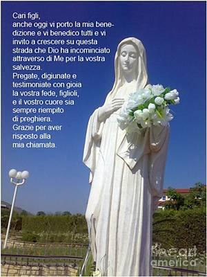 Miraculous Digital Art - Madonna Medjugorje by Archangelus Gallery