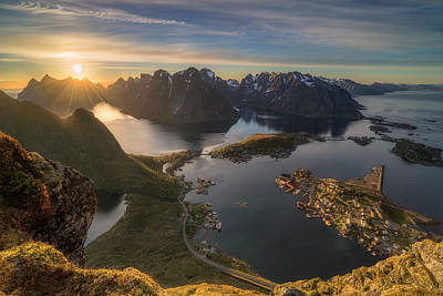 Fjord Photograph - Magic Moment by Ludwig Riml