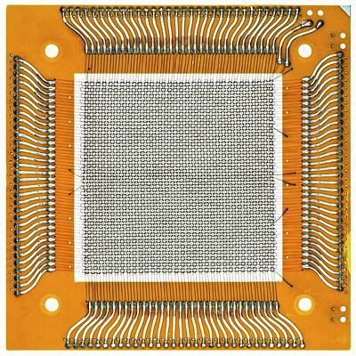 Ic Photograph - Magnetic-core Memory by Pasieka