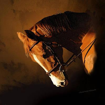 Digital Art - Magnificent Chestnut Trakehner Horse  by Renee Forth-Fukumoto