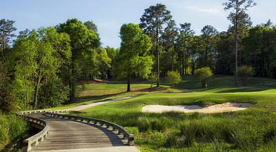 Pedestrian Bridge Photograph - Magnolia Golf Course - Mobile Alabama by Mountain Dreams