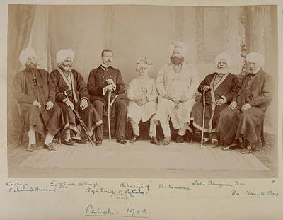 Aristocrat Photograph - Maharaja Of Patiala by British Library