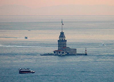 Istanbul Photograph - Maiden Tower At Sunset by Rebecca Davis