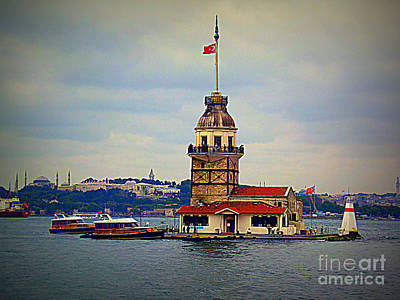 Photograph - Maiden's Tower Istanbul by Lou Ann Bagnall