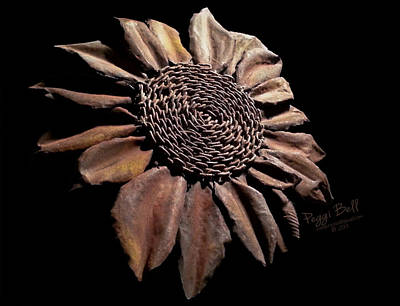 Sculpture - Mailbox Sunflower by Peggi Bell