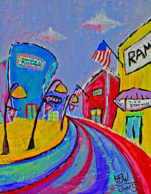 Main Street Usa Art Print by Owl Jones