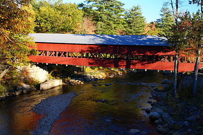 Photograph - Maine Covered Bridge  by Robert Lozen
