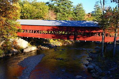 Photograph - Maine Covered Bridge  by Robert Lozen