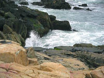 Photograph - Maine Rocky Coastline by Denise Mazzocco