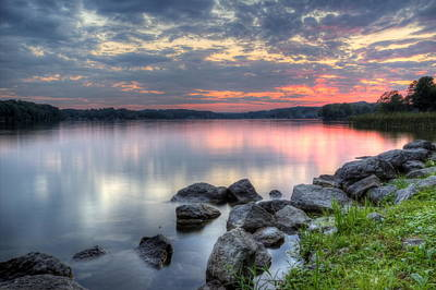 Photograph - Majestic Lake Sunset by David Dufresne