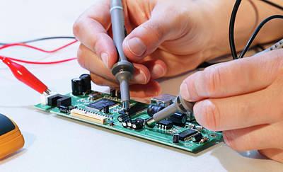 Making An Electronic Micro Processor Art Print by Wladimir Bulgar