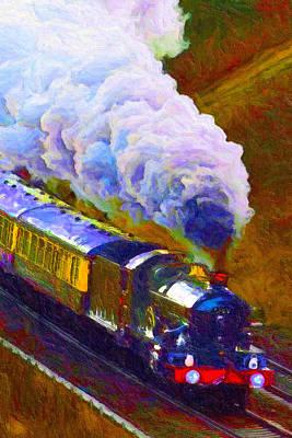 Digital Art - Making Smoke by Chuck Mountain