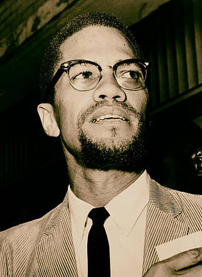 Malcolm X Wall Art - Photograph - Malcolm X 1963 by Mountain Dreams