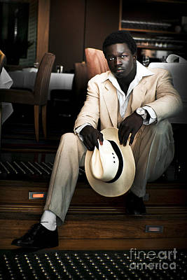 Photograph - Male Fashion Model In White Suit by Jorgo Photography - Wall Art Gallery