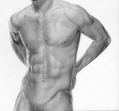 Male Nude Drawing Drawing - Male Nude 12 by Stefano Campitelli