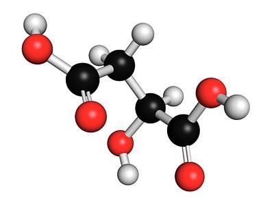 Malic Acid Fruit Acid Molecule Print by Molekuul