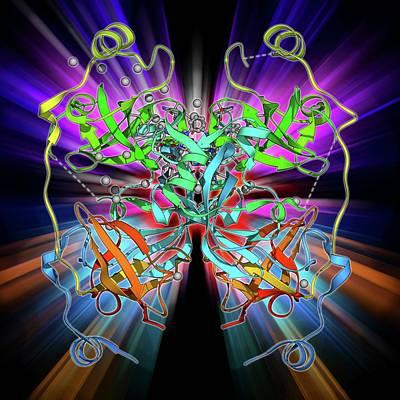 Malignant Brain-tumor-like Protein Art Print by Laguna Design