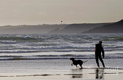 Best Friend Photograph - Man And Dog by Colin Woods