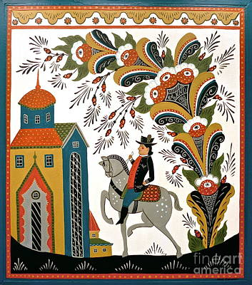 Man On Horse Art Print by Leif Sodergren