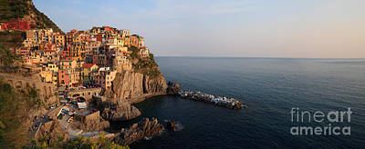 Manarola At Sunset In The Cinque Terre Italy Art Print by Matteo Colombo