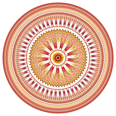 Digital Art - Mandala Of Friendship by Martin Capek