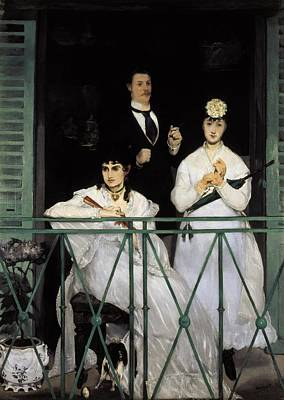 Berthe Photograph - Manet, �douard 1832-1883. The Balcony by Everett