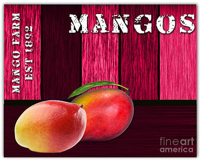 Mango Farm Sign Print by Marvin Blaine