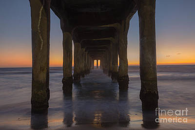 Photograph - Manhattan Beach Pier by Shishir Sathe