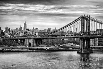 Manhattan Landscape Photograph - Manhattan Bridge by John Farnan
