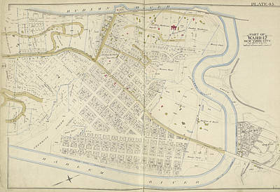 Harlem Drawing - Manhattan, Double Page Plate No by Litz Collection