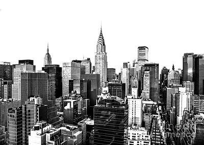 Skylines Royalty-Free and Rights-Managed Images - Manhattan Skyline by Diane Diederich