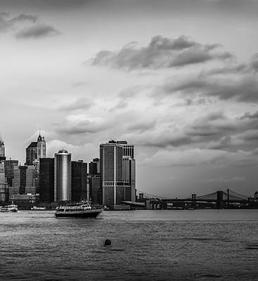 Photograph - Manhattan Skyline Right Triptych by David Morefield