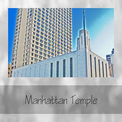 Photograph - Manhattan Temple by VaLon Frandsen