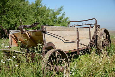 Photograph - Manure Spreader by Jenessa Rahn