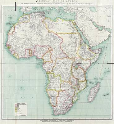 Belgium Photograph - Map Of Africa by Library Of Congress, Geography And Map Division