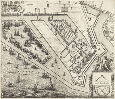 Map Of Amsterdam Leaf Right, 1625, The Netherlands Art Print