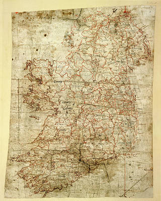 Xvi Photograph - Map Of Ireland by British Library