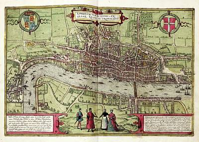 Tower Of London Photograph - Map Of London by Library Of Congress, Geography And Map Division
