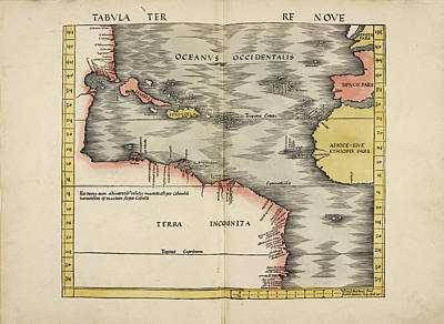 Map Of The Ancient World Art Print by British Library