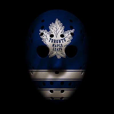 Maple Leafs Jersey Mask Art Print by Joe Hamilton