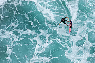 Surfing Photograph - Marble Carve by Sean Davey