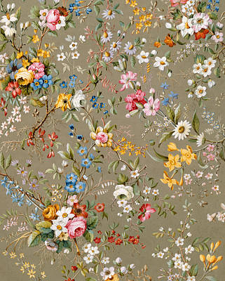 Arts And Crafts Tapestry - Textile - Marble End Paper by William Kilburn