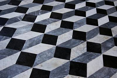 Marble Patterned Floor Art Print by Mark Williamson