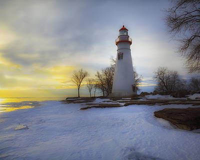 Photograph - Marblehead Lighthouse Lake Erie by Jack R Perry
