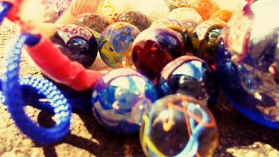 Glass Art Photograph - Marbles by Candy Floss Happy