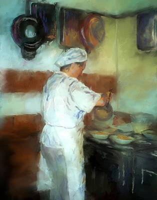 Trattoria Painting - Marcellos Wife by Colleen Taylor