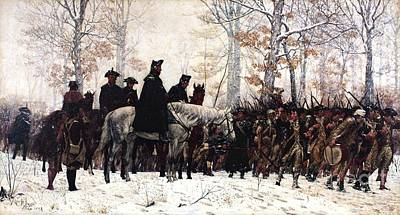 March To Valley Forge Art Print by Pg Reproductions