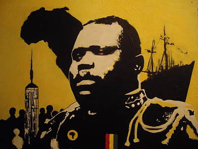 Black History Painting - Marcus Garvey by Robert Cunningham